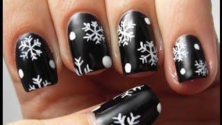 Маникюр со снежинками: 45 лучших идей модного дизайна ногтей + как нарисовать в домашних условиях