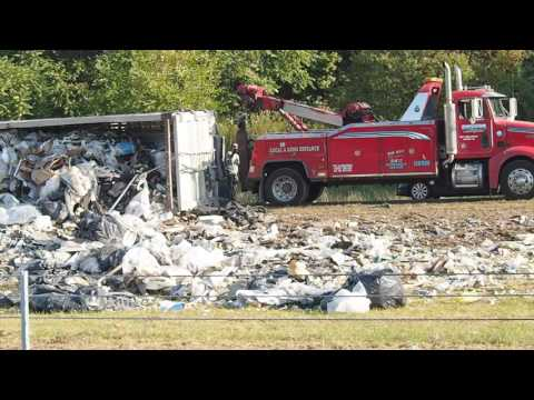 Garbage Truck Accident Ties Up 422 For Hours