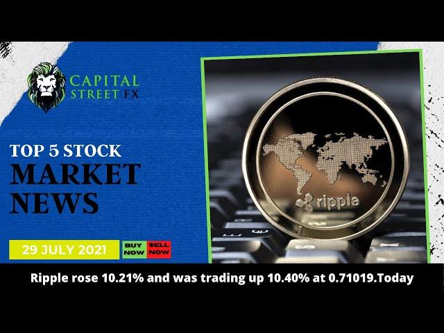 Top 5 Stock Market Update & Financial Market News By Capital Street Fx - 29 July, 2021