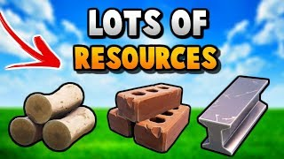 HOW To Get LOADS of RESOURCES FAST in FORTNITE! How To Get 999+ RESOURCES SUPER FAST TIPS & TRICKS!