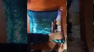 Подушка с пайетками (антистресс),печать фото!