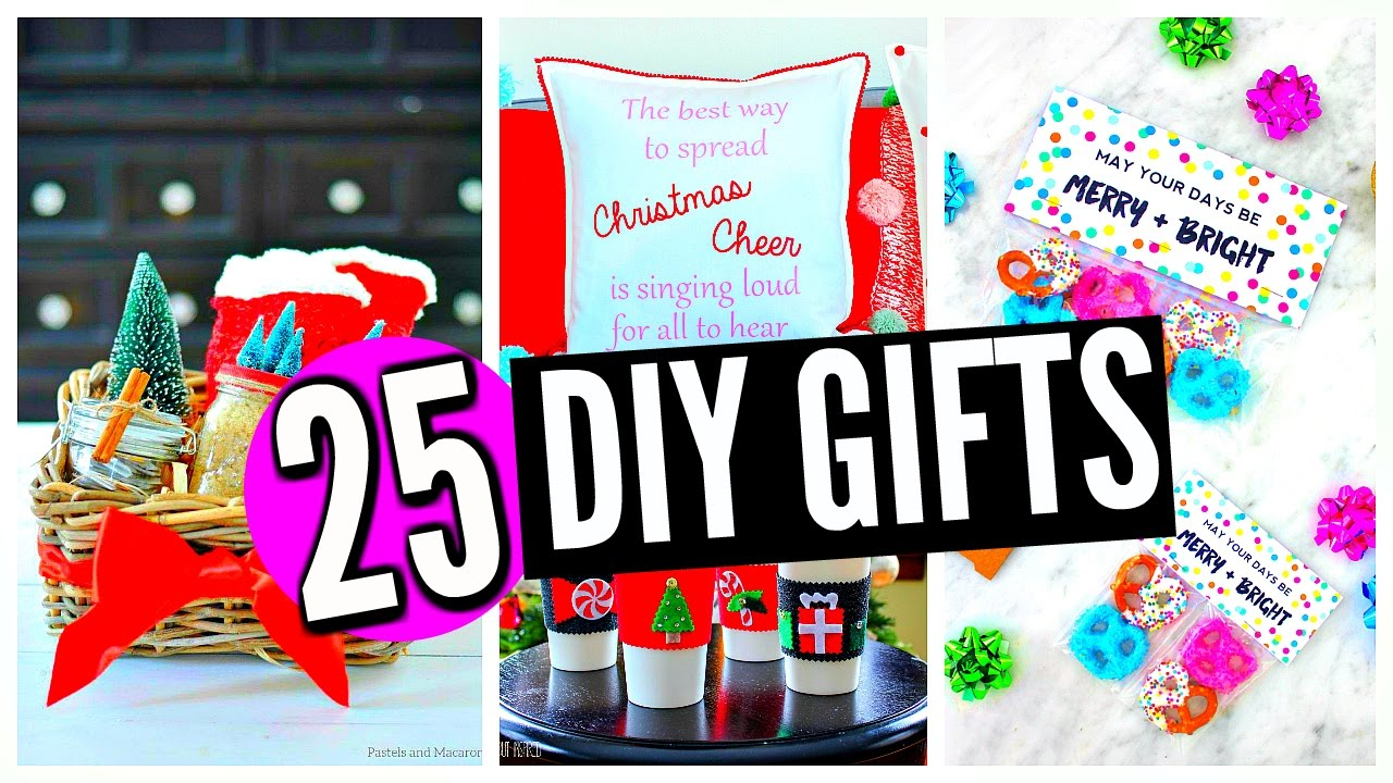 25 DIY Christmas Gifts! For Friends, Family, Boyfriend