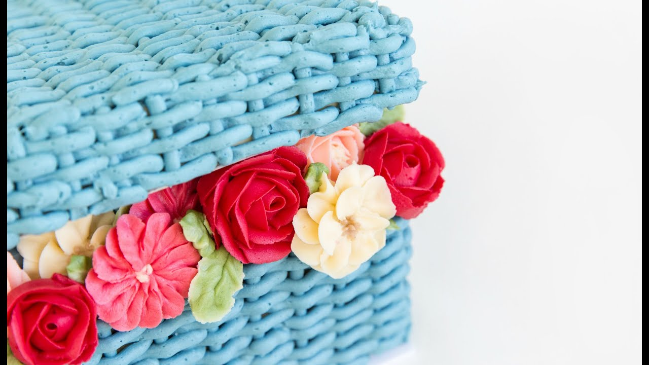 How To Make A Basket Of Flowers Cake : Amazing flower basket cake decorating
