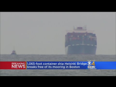 Container Ship Breaks Free, Drifts From Boston Terminal