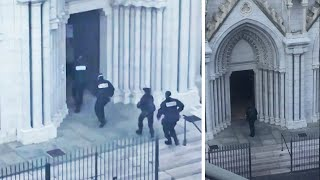 Nice attack: Moment armed police enter church after knifeman kills three people