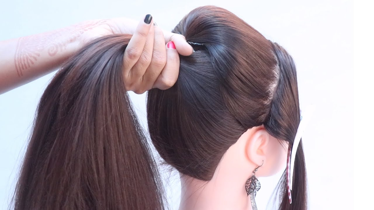 3 very easy high ponytail hairstyle for everyday   simple hairstyle   quick hairstyle   hairstyle