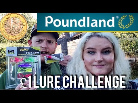 UK Canal Lure Fishing: Poundland £1 Bait Challenge!