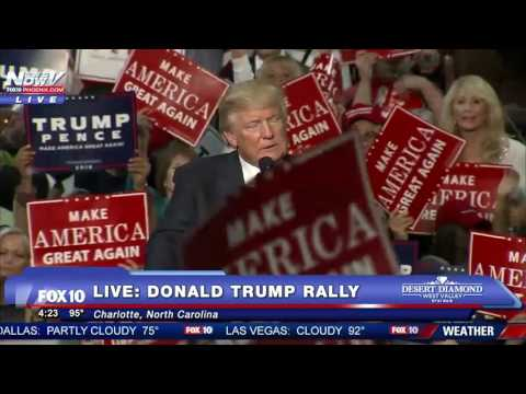 FNN: Donald Trump Charlotte, North Carolina Rally - With MAJOR Prompter Issues