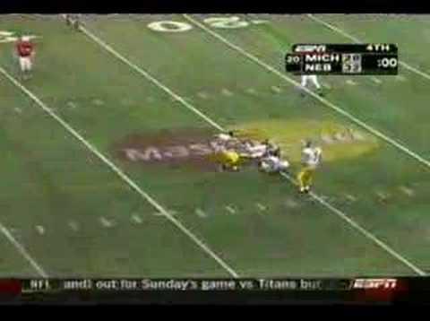 Alamo Bowl: Michigan v. Nebraska end of game