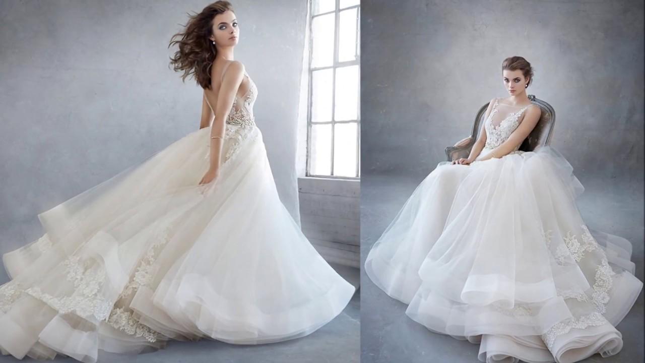 Lazaro abiti da sposa collezione 2018 - YouTube dffb79a6742