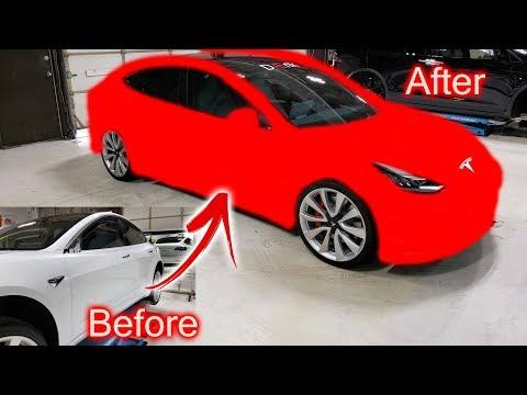 Tesla Performance Model 3 Wrap Reveal!!