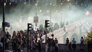 Fransız polisinden iklim yürüyüşünü dağıtan Kara Blok ve Sarı Yelekliler'e müdahale…