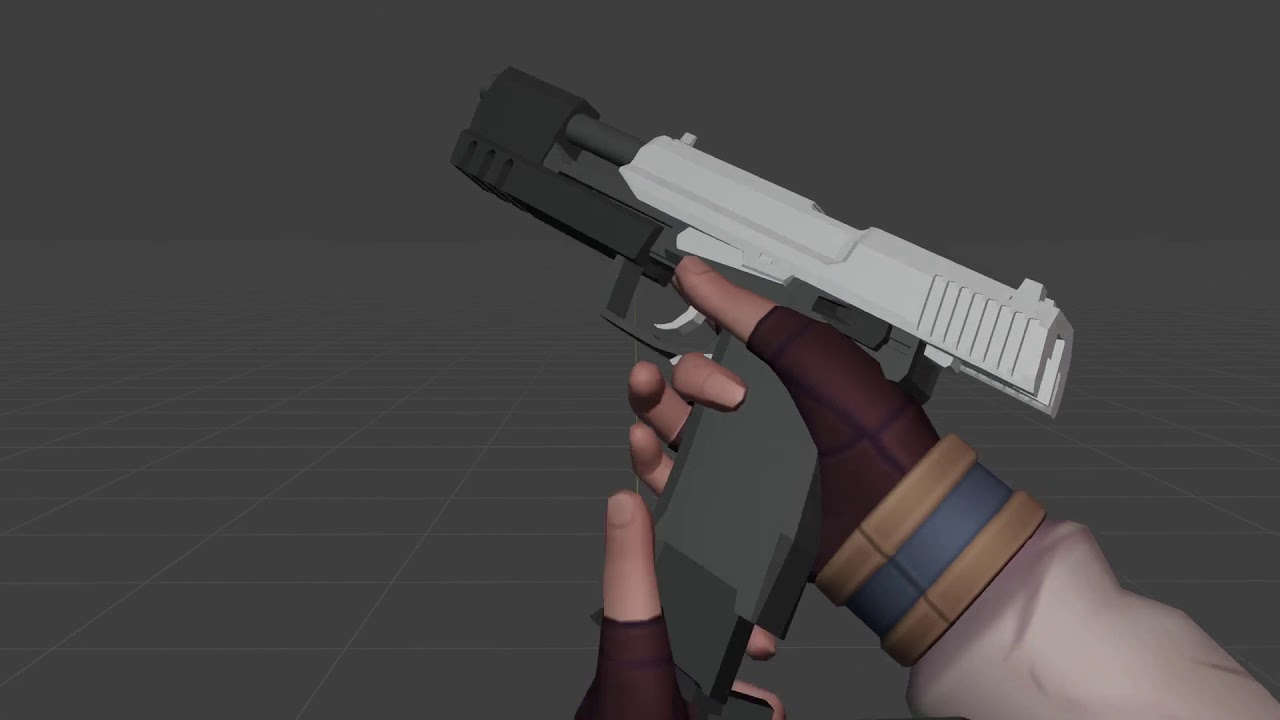 [3D Animation] USP Match first-person reload