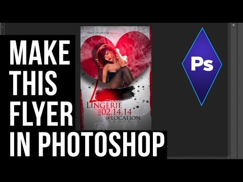 HOW TO CREATE A LOVE THEMED FLYER IN ADOBE PHOTOSHOP