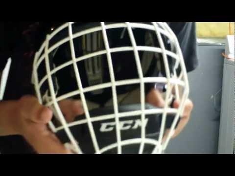 White Helmet White Cage my Helmet Ccm Fm580 White Cage