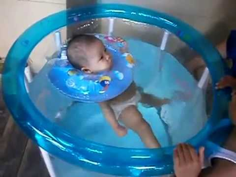 Baby 6 Mo Swimming At Small Pool Youtube