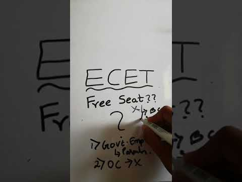 Free seat in BTECH by ECET exam???