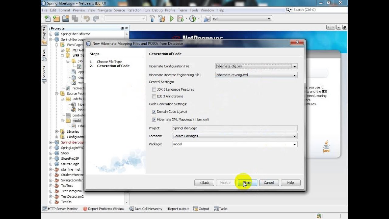 Spring Hibernate Login & Registration with NetBeans (Part-1)