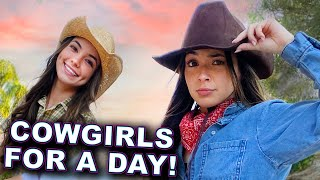 Being Cowgirls for a Day and Riding Horses! - Merrell Twins