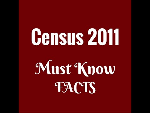 Census of  india 2011 ||  Must Know facts
