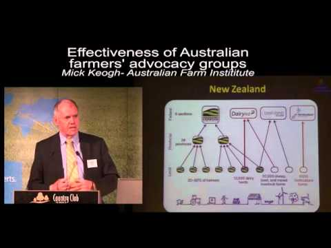 Keynote speaker Mick Keogh: Effectiveness of Agriculture Advocacy Groups