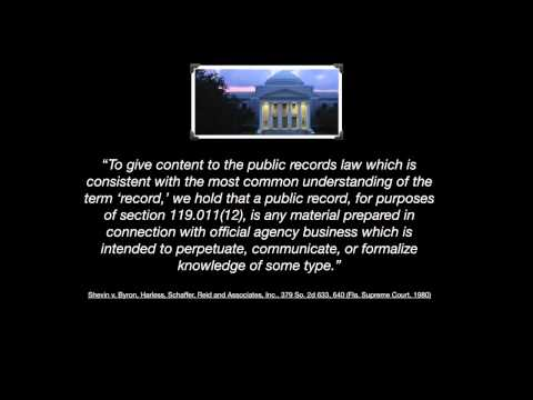 Part 2 - What Is A Public Record