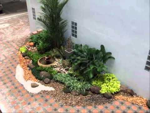 จัดสวนข้างรั้ว สวนหย่อมหน้าบ้านสวยๆ