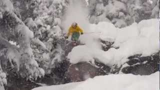 Vail Powder and Cliff Drops in Northwoods