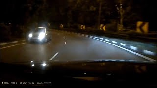 2dec2018   car travelling in opposite direction is back in trend.  lornie highway