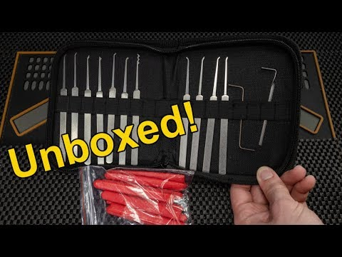 [298] Unboxing DANIU 12 Piece Lock Pick Set from LegalLockPicker