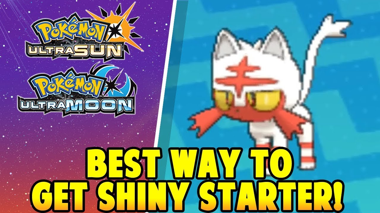 SHINY STARTERS! - Pokemon Ultra Sun and Ultra Moon Best Way to get Shiny  Starter Through Soft Resets