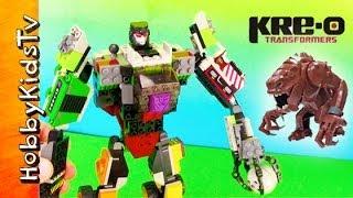 Kre O Transformer Against Star Wars Rancor HobbyKidsTV