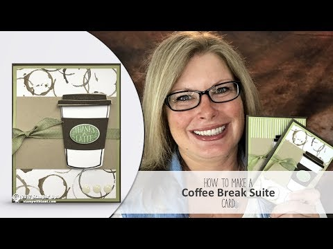 How to make a Starbucks / Coffee Break Latte Card featuring Stampin Up Suite and Giveaway