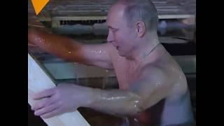 Putin Bathes in Icy Waters
