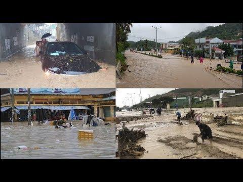 Khánh Hòa: Mưa lớn sạt lở, ngập lụt khắp nơi, đường vào sân ba y tê l i ệ t