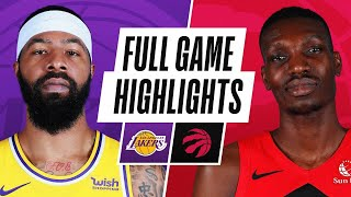 Game Recap: Lakers 110, Raptors 101