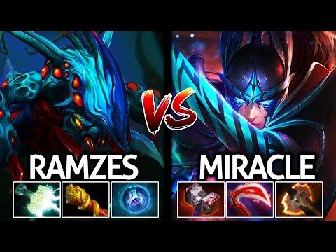 Ramzes Weaver VS Miracle- Phantom Assassin Hard Carry Agi Battle 7.21 Dota 2 thumbnail