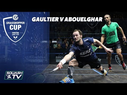 WHAT. A. MATCH - Gaultier v Abouelghar  - Extended QF Highlights - Grasshopper Cup Squash