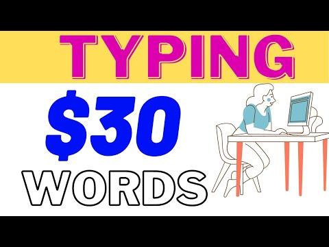 Earn $30 Per Typing Words On Videos (Make Money Online 2021)