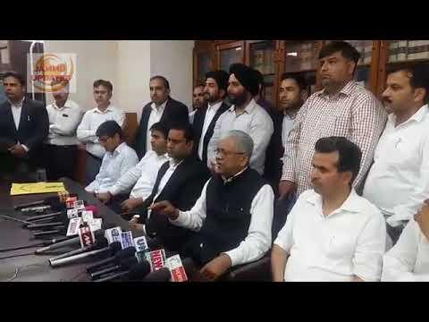 Press Conference By Bar Association Jammu regarding Jammu Bandh Call on 11 April.