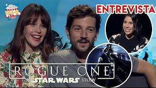 ROGUE ONE - ¡El extraño cast de Diego Luna! / Felicity Jones - ENTREVISTA