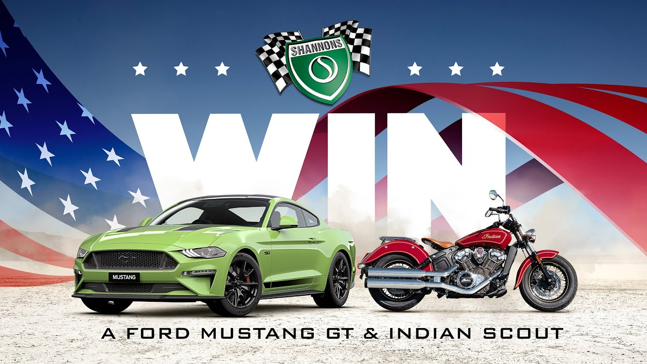 Win A Ford Mustang & Indian Scout with Shannons
