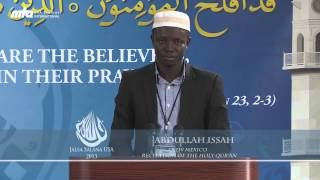 Recitation of The Holy Quran with Translation - 3rd Day Jalsa Salana USA West Coast 2013