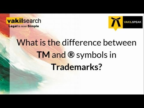 What is the difference between TM and R symbol?