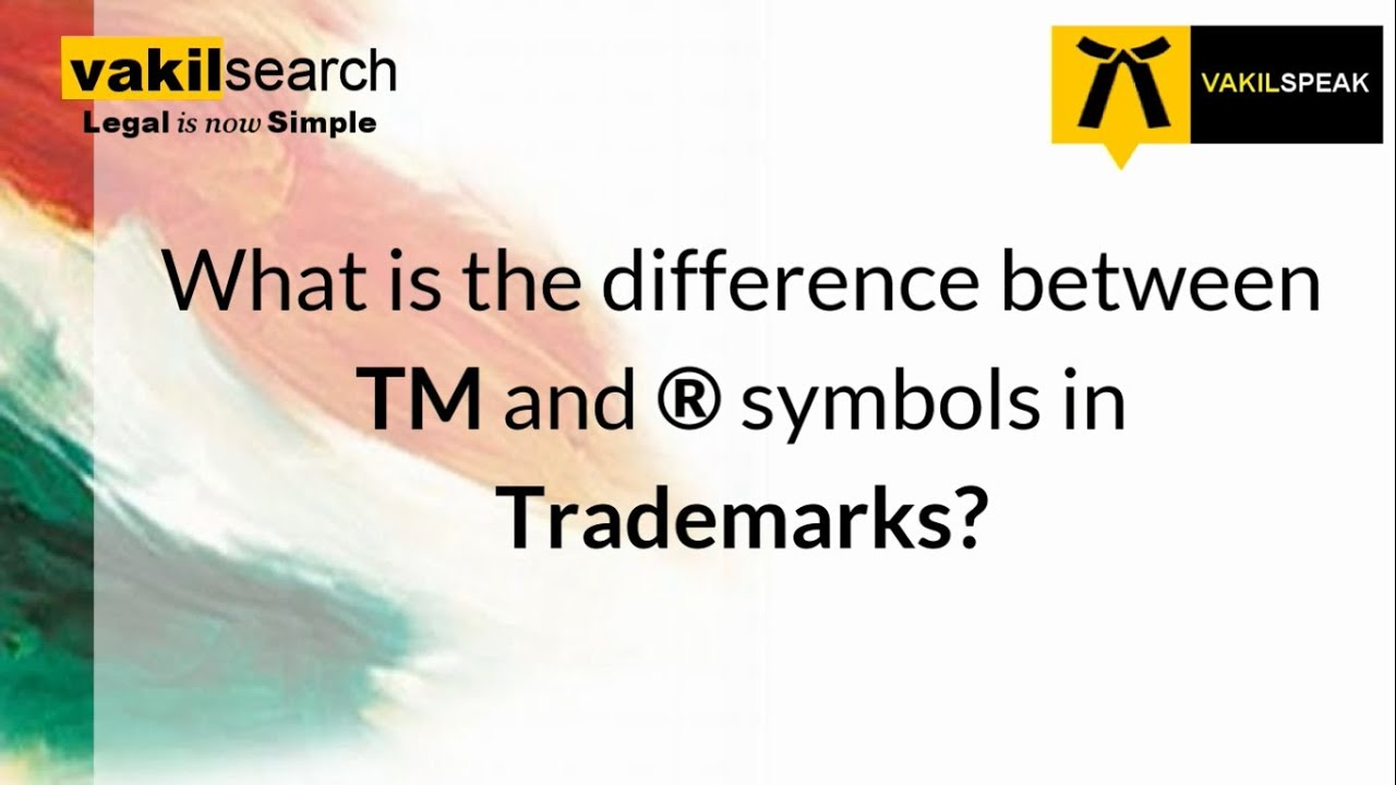 What is the difference between TM and R symbol? - YouTube