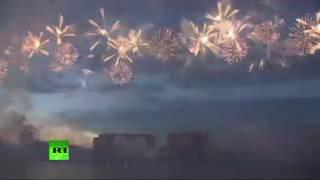 Салют на Международном фестивале фейерверков «Ростех»