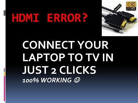 Windows 7 cannot connect to tv hdmi