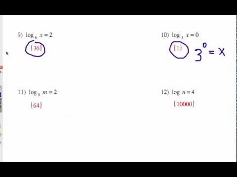 How To Solve Logarithm Equations: Exponential Form - YouTube