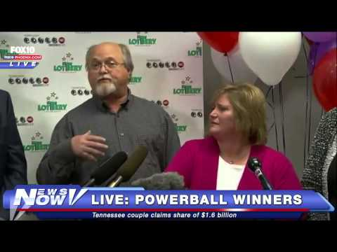 FNN: Powerball Jackpot Winners Claim Prize In Tennessee - Press Conference