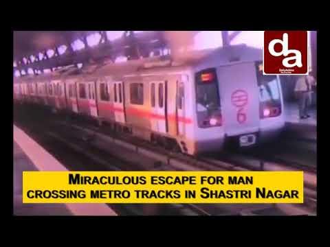 Watch: Alert Metro Driver Saves Man Crossing Tracks In Delhi's Shastri Nagar